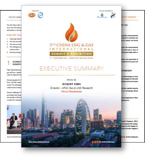5th China LNG & Gas International Summit Executive Summary